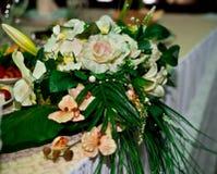 Decoraciones de la boda Imágenes de archivo libres de regalías