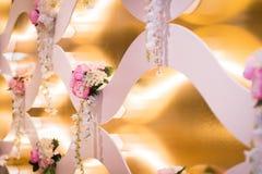 Decoraciones de la boda Foto de archivo libre de regalías