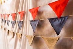 Decoraciones de la boda de la bandera Imágenes de archivo libres de regalías