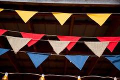 Decoraciones de la boda de la bandera Fotos de archivo libres de regalías