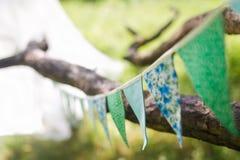 Decoraciones de la boda de la bandera Fotos de archivo