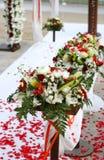 Decoraciones de la boda de playa Fotos de archivo