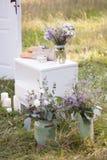 Decoraciones de la boda en el estilo de Provence Foto de archivo libre de regalías