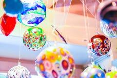 Decoraciones de la bola de cristal de Murano Fotografía de archivo