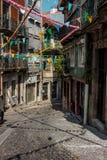 Decoraciones de la calle de Oporto foto de archivo