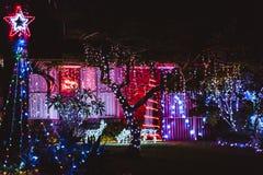 Decoraciones de la casa de la Navidad Foto de archivo