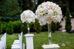 Decoraciones de la ceremonia de boda Foto de archivo