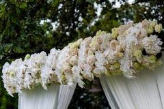 Decoraciones de la ceremonia de boda Fotografía de archivo libre de regalías