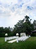 Decoraciones de la ceremonia de boda Imagen de archivo libre de regalías