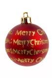 Decoraciones de la chuchería de la Navidad fotografía de archivo libre de regalías