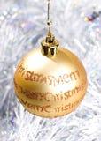 Decoraciones de la chuchería de la Navidad fotografía de archivo