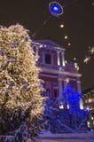 Decoraciones de la ciudad del invierno Imagen de archivo