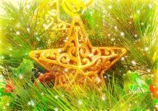 Decoraciones de la estrella Foto de archivo
