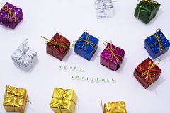 Decoraciones de la Feliz Navidad Fotos de archivo libres de regalías