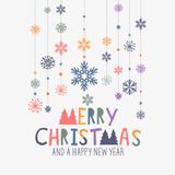 Decoraciones de la Feliz Navidad Fotografía de archivo libre de regalías