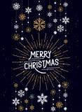 Decoraciones de la Feliz Navidad ilustración del vector