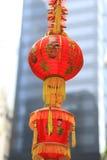 Decoraciones de la linterna por Año Nuevo chino Imagen de archivo libre de regalías