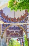 Decoraciones de la mezquita de Muratpasa, Antalya Foto de archivo