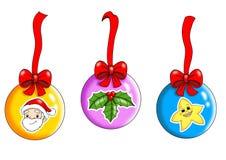 Decoraciones de la Navidad ilustración del vector