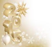 Decoraciones de la Navidad 2015 o del Año Nuevo Foto de archivo libre de regalías