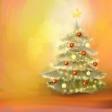 Decoraciones de la Navidad stock de ilustración