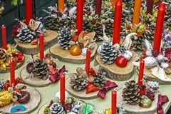 Decoraciones 5 de la Navidad Imágenes de archivo libres de regalías