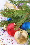 Decoraciones de la Navidad Fotografía de archivo