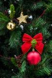 Decoraciones de la Navidad imagen de archivo