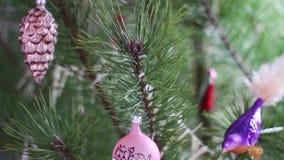 Decoraciones de la Navidad almacen de video