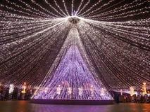 Decoraciones de la Navidad, Bucarest Imágenes de archivo libres de regalías