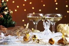 Decoraciones de la Navidad con la copa Fotos de archivo libres de regalías