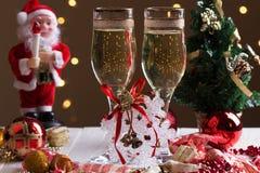Decoraciones de la Navidad con la copa Imágenes de archivo libres de regalías