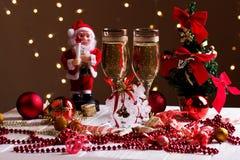 Decoraciones de la Navidad con la copa Foto de archivo libre de regalías