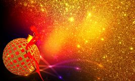Decoraciones de la Navidad con el fondo de las texturas y del efecto luminoso imagen de archivo