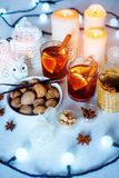 Decoraciones de la Navidad con humor festivo Foto de archivo libre de regalías
