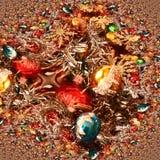 Decoraciones de la Navidad con las estrellas de oro que esperan el cometa Imágenes de archivo libres de regalías