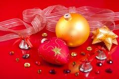 Decoraciones de la Navidad con las piedras preciosas Imagen de archivo libre de regalías