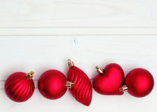Decoraciones de la Navidad con los juguetes de la Navidad Fotografía de archivo libre de regalías