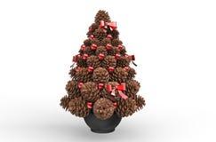 Decoraciones de la Navidad - conos del pino Imagen de archivo libre de regalías