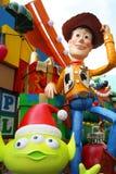 Decoraciones de la Navidad de Toy Story en Hong-Kong Imagen de archivo