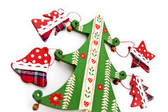 Decoraciones de la Navidad del abeto. Foto de archivo