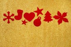 Decoraciones de la Navidad del fieltro Imagen de archivo libre de regalías