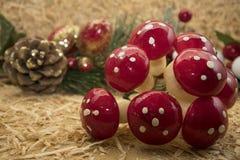 Decoraciones de la Navidad del país Fotos de archivo libres de regalías