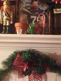 Decoraciones de la Navidad del país y ornamento hecho a mano Foto de archivo libre de regalías