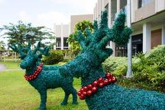 Decoraciones de la Navidad del reno Imagen de archivo libre de regalías