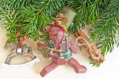 Decoraciones de la Navidad del vintage Fotografía de archivo