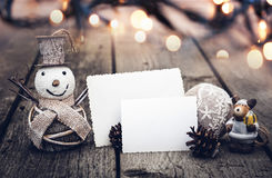 Decoraciones de la Navidad del vintage foto de archivo libre de regalías