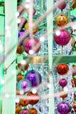 Decoraciones de la Navidad en azul Imágenes de archivo libres de regalías
