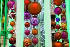 Decoraciones de la Navidad en azul Imagen de archivo