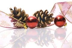 Decoraciones de la Navidad en blanco Foto de archivo libre de regalías